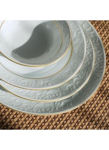 Güral Porselen Bahar Dalı Altın File 24 Parça Yemek Takımı Renkli